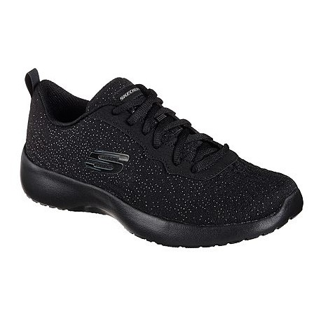 Skechers 12149_BBK SPARLKLE KNIT MESH LACE-UP