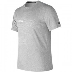 New Balance CAMISETA MC HEATHER RUN GRAPHIC MT73083 TRY