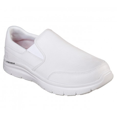 SKECHERS 77071EC WHT WORK RELAXED FIT: FLEX ADVANTAGE SR - BRONWOOD