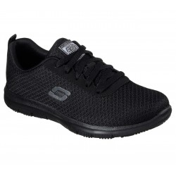 SKECHERS 77210EC BLK WORK RELAXED FIT: GHENTER - BRONAUGH SR