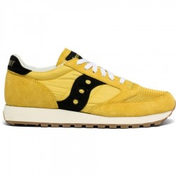 SAUCONY JAZZ VINTAGE SUEDE LOGO YELLOW/BLACK S70368-89
