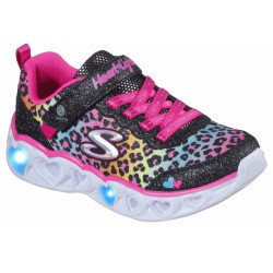 Skechers 302145L BKMT HEART LIGHTS - SHIMMERS SPOTS