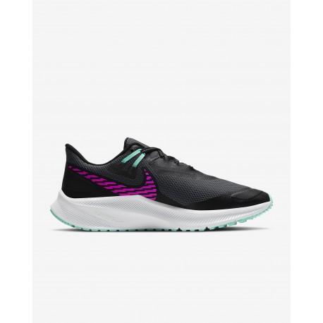 Nike WMNS QUEST 3 SHIELD NEGRO/ROSA/AZUL CQ8893 010
