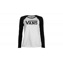 Vans WM FLYING V LS RAGLA WHITE/BLACK VN0A3Z79YB2