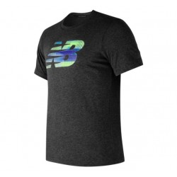 New Balance CAMISETA MC HEATHER GRAPHIC MT73082 BKH