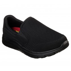 SKECHERS 76580 BLK WORK RELAXED FIT: COZARD SR
