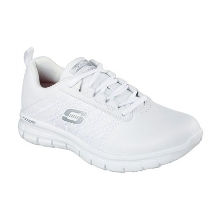 SKECHERS 76576EC WHT WORK RELAXED FIT: SURE TRACK - ERATH SR