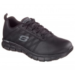 SKECHERS 76576EC BLK WORK RELAXED FIT: SURE TRACK - ERATH SR