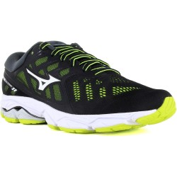Mizuno WAVE ULTIMA BLACK/WHITE/SAFETYYELLOW J1GC1909 01